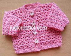 fjc147-Preemie Cardigan Baby Crochet Pattern | Craftsy