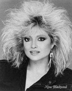 Nina Blackwood 80s Big Hair, Mullets, Hairspray, Perm, Vintage Hairstyles, Mtv, Bangs, Hair Makeup, Glamour