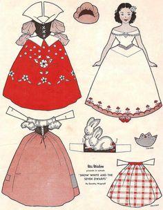 紙の白雪姫の着せ替え人形の画像-1