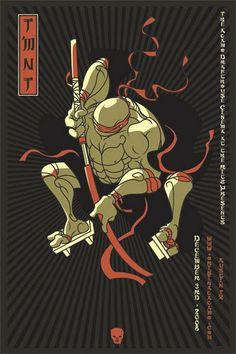 Scrojo Teenage Mutant Ninja Turtles Movie Poster Rarest Alamo Drafthouse Poster!