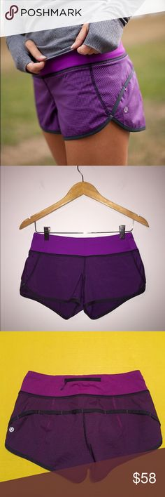 Lululemon speed shorts tender violet gingham Like new Lululemon tender Violet gingham speed shorts, size 4, perfect condition with no flaws. Super cute print!! Bundle to save  lululemon athletica Shorts