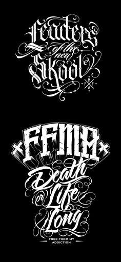 Custom lettering for FFMA