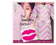 "The smiles Factor'   My fashion Collection is made to feel Good""      *See 100 more looks'     Feel Good Fashion @ www.marijkeverkerkdesign.nl  Pink Designer Trench coat, Designer clutch evening bag, Designer dress, Designer fashion Belt"