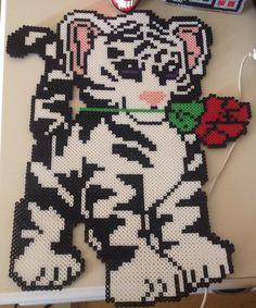 Perler bead white tiger
