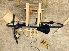 Homemade Wooden Bicycle Stand With Dual Mounting : 5 Steps (with Pictures) - Instructables Homemade Bike Stand, Bike Stand Diy, Bicycle Stand, Woodworking Projects Diy, Diy Wood Projects, Projects To Try, Bike Craft, Bike Challenge, Wooden Bicycle