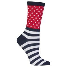 Hot Sox Womens Flag Socks crew casual patriotic #HotSox #Casual