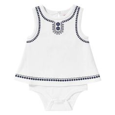 Baby Girls' Embroidered Bodysuit from Joe Fresh. Meet our latest prints charming. Our latest embroidered bodysuit is ready to be part of her crew. Only $12.