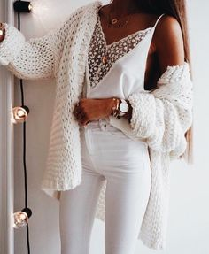 All white casual chic.