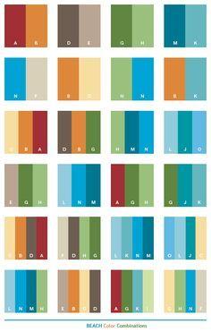 Color Schemes   Beach color schemes, color combinations, color palettes for print ...