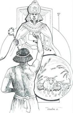 HC 10 Jozef legt Farao's droom uit God stuurt Jozef's leven zo dat hij aan het hof van Farao de belangrijkste man wordt, en zo het volk van God redt.