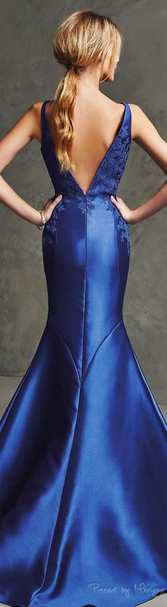 Pronovias 2016. women fashion outfit clothing style apparel @roressclothes closet ideas Sexy Dresses, Dress Outfits, Nice Dresses, Fashion Outfits, Formal Dresses, Moda Fashion, Blue Fashion, Beautiful Gowns, Beautiful Outfits