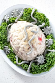 This Zombie Brain Dessert is actually just AIP Coconut Panna Cotta with Strawberries just disguised as Halloween brain jello. It's fun, spooky and ghoulish AIP dessert. This recipe is suits the paleo and aip diets. Vegan Recipes Beginner, Dairy Free Recipes, Paleo Recipes, Real Food Recipes, Gluten Free, Kid Friendly Dinner, Kid Friendly Meals, Paleo Jello, Baked Butternut Squash