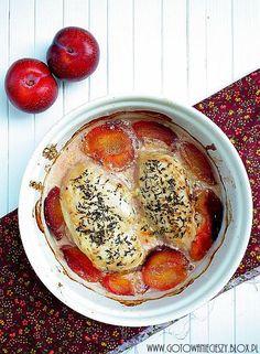kurczak w sosie smietanowo-sliwkowym