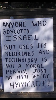 """""""If someone uses Israeli tech or meds then they would not be one who boycotts Israel."""" -'No Shit' Logic"""
