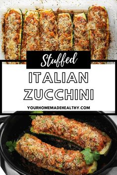 Stuffed Italian Zucchini is a delicious healthy dinner for your whole family. Stuffed full of lean ground chicken coated in marinara sauce and seasoned with herbs and spices, then topped with breadcrumbs and parmesan cheese. It's like a healthy chicken parmesan or baked chicken recipe! Ground Chicken Recipes, Baked Chicken Recipes, Healthy Chicken Parmesan, Asian Cooking, Quick Easy Meals, Zucchini, Main Dishes, Marinara Sauce, Dinner