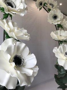 Giant foam anemones large anemones anemones flowers   Etsy Tissue Flowers, Giant Paper Flowers, Large Flowers, Wedding Venue Decorations, Flower Decorations, Wall Decorations, Anemone Flower, Bud Flower, Photo Prop
