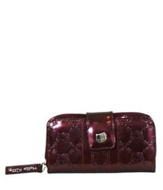 Hello Kitty Burgandy Shiny Patent Embossed Wallet by Loungefly.  29.26.  HELLO KITTY BURGUNDY SHINY 8b624f5c43efc