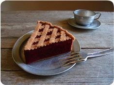 Felt Cherry Pie Slice $14.00 on etsy.com