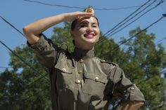 https://flic.kr/p/ythwVg | TN25-178 Female Military Dancer, 2nd September 2015, 25th Anniversary Of Transnistria, Tiraspol | On 2nd September 2015, Transnistria celebrated the 25th anniversary of its independence with a spectacular ceremony including a Soviet style military parade, folkloric dances as well as a variety of sports and cultural shows. President Evgueni Chevtchouk hosted the ceremony and invited the other three presidents of the post-Soviet frozen conflict zones…