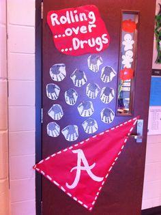 Red Ribbon Week Themed Door For Kindergarten  Red Ribbon Week