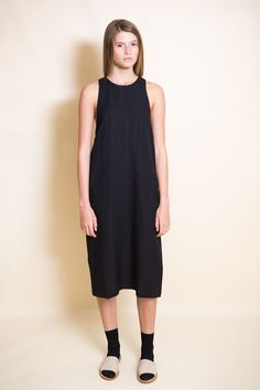 First Rite Drop Back Dress / Black