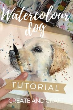 Dive into Kathryn Coyle's beautiful watercolour dog tutorial and learn step-by-step how to paint a Labrador. or adapt it to paint your own pet's portrait! Watercolor Painting Techniques, Watercolor Video, Watercolor Sketchbook, Watercolor Landscape Paintings, Pen And Watercolor, Watercolor Animals, Watercolour Painting, Watercolours, Watercolor Flowers Tutorial