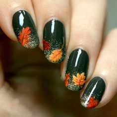 Pretty Thanksgiving Nails Art Designs (11)