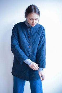 9bad3d0d18e73 Chimala Reversible Quilted Jacket in Navy