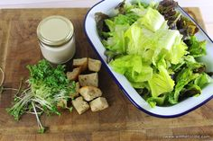 Lighter Caesar Salad - my healthier take on the traditional Caesar salad, with a lower fat dressing, and topped with cress. Cress, Caesar Salad, Light Recipes, Lighter, Meals, Healthy, Blog, Skinny Recipes, Meal