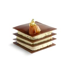 The Mont Blanc revisited. Mont Blanc revisité. Chocolate designed by Belgian chocolate maker Pierre Marcolini.