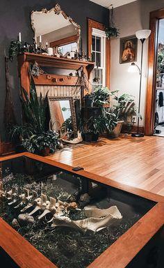 Dark Home Decor, Goth Home Decor, Living Room Decor, Bedroom Decor, Style Deco, Gothic House, Dream Rooms, My Dream Home, Home Interior Design