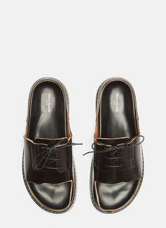 59bd1cc45bf Maison Margiela Cut-Out Lace Up Shoes in Black