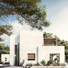 Mediterranean Architecture, Mediterranean House Exterior, Small Mediterranean Homes, Adobe House, Desert Homes, Facade House, Exterior Design, Future House, Beautiful Homes
