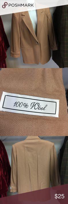 Caramel Wool Blazer 100% Wool Caramel Blazer Sag Harbor Jackets & Coats Blazers