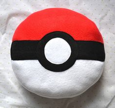 Pokeball Pillow / Plush by TheRobotique on Etsy, $17.00