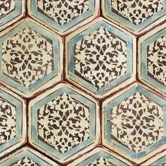 Could I paint my existing ceramic hexagon tiles rather than replacing? Izmir 1 By Tabarka Studio Hexagon Tiles, Mosaic Tiles, Tiling, Tabarka Tile, Hexagon Tile Backsplash, Hexagon Shape, Patterned Kitchen Tiles, Cement Tiles, Wall Tiles