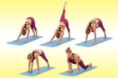 Yoga stretches that are good for sore leg muscles