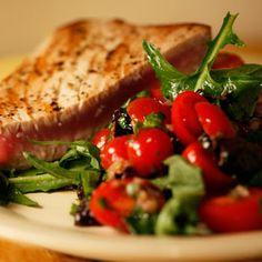 Tuna Steaks with Raw Puttanesca Sauce | Cooking | Rachael Ray Show