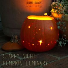 Starry Night Pumpkin Luminary