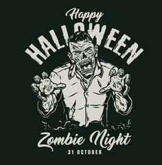 Vintage Zombie design created for Halloween Designs. Vector illustrations with editable texts. Download Halloween vector designs on www.dgimstudio.com. #halloween #halloweenparty #vector #vectorillustration #zombie