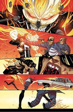 Don't mess with Robbie Reyes. (All-New Ghost Rider: Story by Felipe Smith, Art by Tradd Moore, Colors by Val Staples)