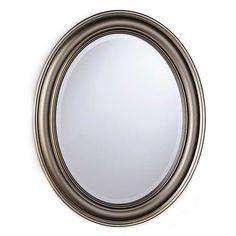 Distressed Silver Oval Framed Mirror | Kirklands