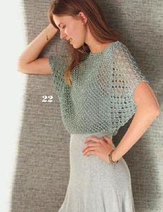 Clippedonissuu From Filati Classici No. Gilet Crochet, Crochet Shirt, Crochet Top, Irish Crochet, Coco Chanel Mode, Knitting Patterns, Crochet Patterns, Summer Knitting, Crochet Woman
