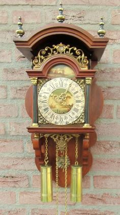 Dutch Zaandam Zaanse Atlas Pendulum Wall Clock Clocks
