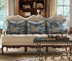 Toile Pillows