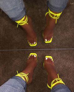 shopofficialbee on Instagra Cute Heels, Cute Sandals, Lace Up Heels, Pumps Heels, Stiletto Heels, Stilettos, Crazy Shoes, Me Too Shoes, Prom Heels