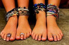Браслет на ногу | Браслеты на ногу своими руками