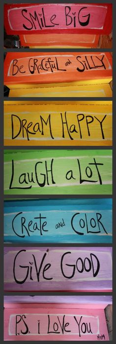 Good advice in colorful hues! ~ painted stairs tutorial and photo: Chantel Olson on Art Moms' Blog