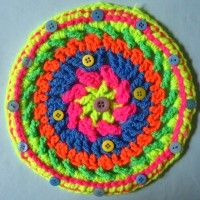 Crochet Mandala Wheel made by  Julia, Aberdeen, UK for  yarndale.co.uk