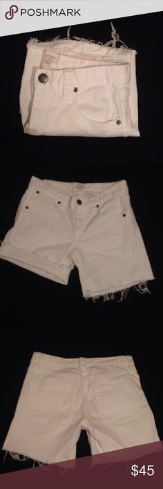 🆕 Cut-off shorts Shorts have front and back pockets, could be worn folded or even unfolded J. Crew Shorts Jean Shorts